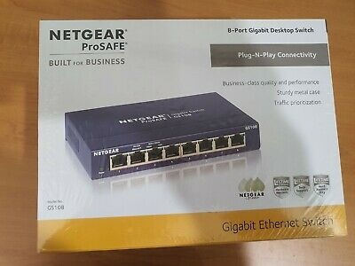 AU69 • Buy Netgear ProSafe 8-Port Gigabit Desktop Switch (GS108)