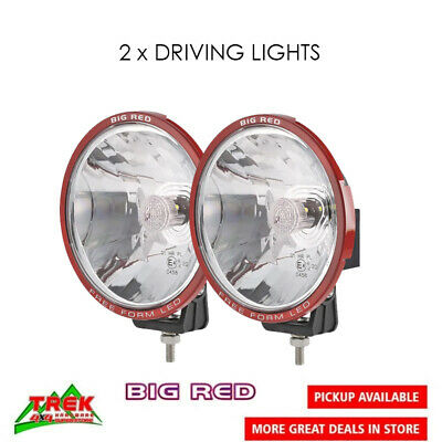 AU278 • Buy 2 X BIG RED 9  INCH FREE FORM LED DRIVING LIGHT FLOOD SPOT LAMP BAR OFFROAD 4WD