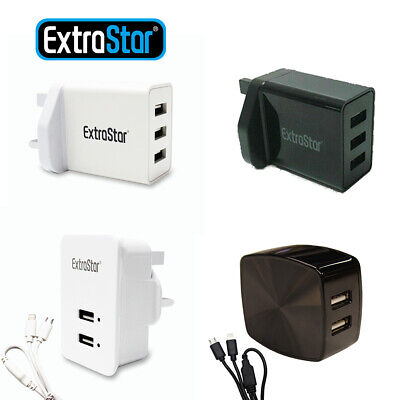 £6.29 • Buy Multi-Port Fast Quick Charge USB Hub Mains Wall Charger UK Plug Adapter Phones
