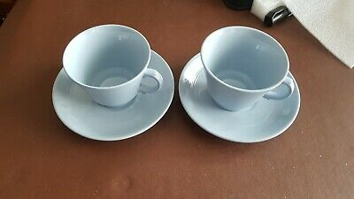 Woods Ware Iris Retro Vintage Cups And Saucers X 2 • 6£