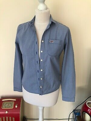 Ladies Girls Hollister Blue Check Shirt Size S Or 6-8 • 2.99£