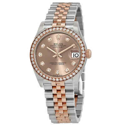 $ CDN26429.59 • Buy Rolex Datejust Rose Diamond Dial Automatic Ladies Steel And Everose Gold Jubilee