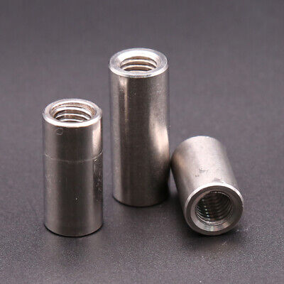 $2.69 • Buy M3 M4 M5 Long Round Coupling Nut Bar Stud Connector Rod 304 Stainless Steel