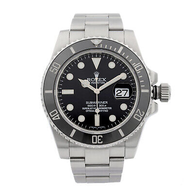 $ CDN18305.97 • Buy Rolex Submariner Stainless Steel Black Dial Date Automatic Mens Watch 116610LN