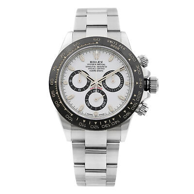 $ CDN35867.10 • Buy Rolex Cosmograph Daytona Ceramic Steel White Dial Automatic Mens Watch 116500LN