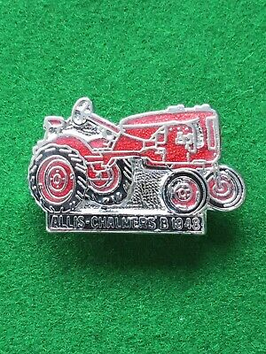 Vintage Enamel Pin Badge - Tractor - Allis Chalmers B 1948 • 4.99£
