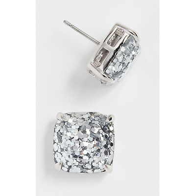 $ CDN35.66 • Buy Kate Spade Silver Glitter Earrings Square Studs