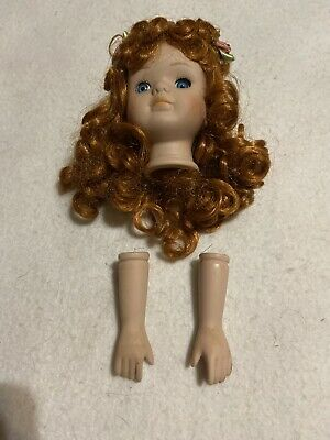 $ CDN14.65 • Buy Girl Porcelain Doll Parts Head  And Hands