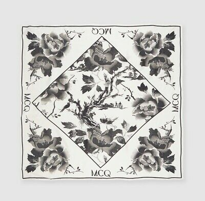 AU299 • Buy NEW McQ By Alexander McQueen Camellia Branch Scarf Authentic