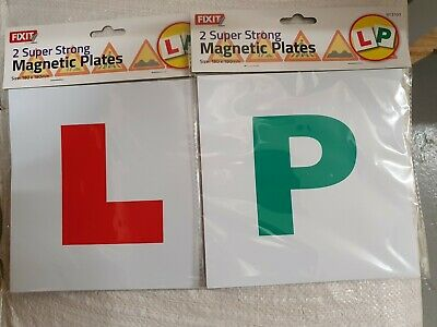 L Plate New Driver Learner Just Passed 'p' Sign Car Magnetic Super Strong 2 Each • 3.99£