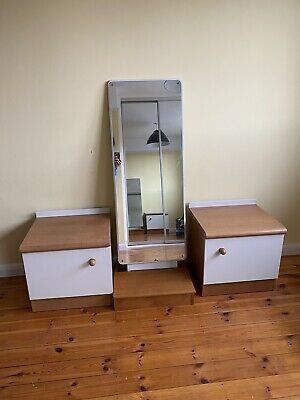 Stag Retro Bedside Table Set And Mirror Mid Century Vintage Furniture • 20£