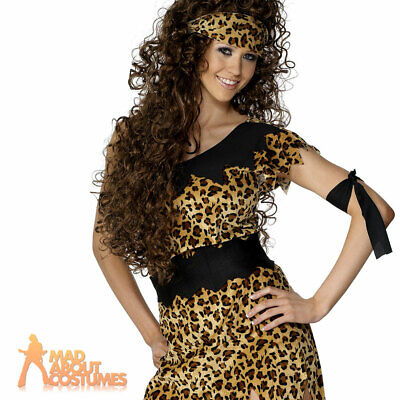 £7.99 • Buy Ladies Cavewoman Costume Cave Girl Prehistoric Womens Fancy Dress Adults Outfit