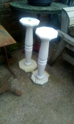 Pair Of Old Used Marble Pillars Marble Column • 30£