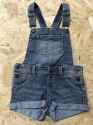 Girls Dungarees Shorts Age 7 To 8 Years To Cherokee Blue Denim Be1754 • 7.99£