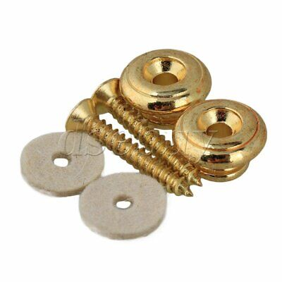 $ CDN7.35 • Buy 1 Set Of 2 Mushrooms Head Electric Guitar Strap Buttons GOLD