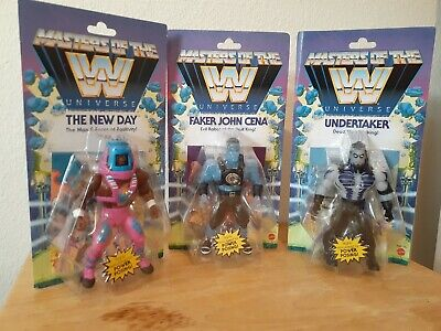 $85 • Buy WWE Masters Of The Universe Scareglow Undertaker Faker John Cena New Day Figures