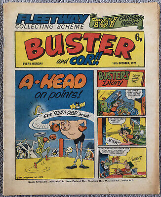 BUSTER & COR Comic - 11th October 1975 - IPC. Pete's Pocket Army Faceache Chalky • 1.49£