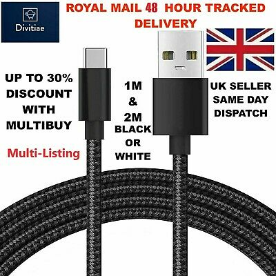 £3.69 • Buy 1M 2M Long Micro USB Data Sync Charger Cable Lead For Samsung Android Phones