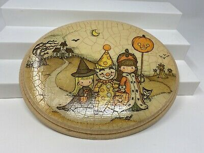 $ CDN92.49 • Buy Vintage Halloween Wall Plaque Plaster Trick Or Treaters Haunted House