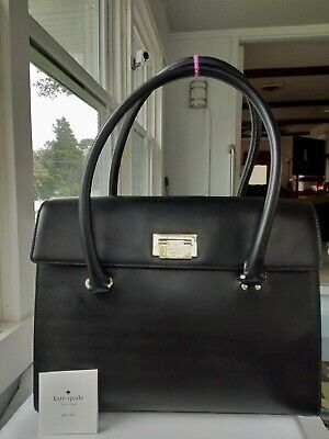 $ CDN78.67 • Buy KATE SPADE! NY X-Large Smooth Black Leather Tote, Professional Looking