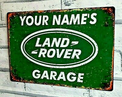 Personalised Metal Garage Sign Land Rover Man Cave Workshop Shed Gift Idea • 8.95£