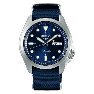 $ CDN272.50 • Buy AUTHORIZED DEALER Seiko 5 SRPE63 Blue Dial Automatic Nylon Strap 40mm Watch