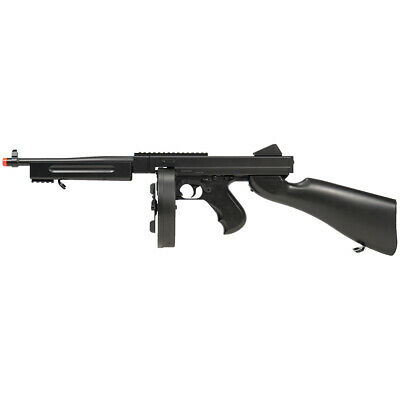 $89.95 • Buy Double Eagle WWII M1A1 Tommy Gun AEG Airsoft Rifle Replica SMG W/ Drum Mag M811