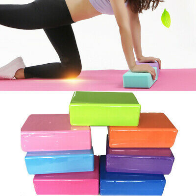 2 X Yoga Block Pilates EVA Foaming Foam Brick Exercise Gym Fitness Up Stretching • 6.66£