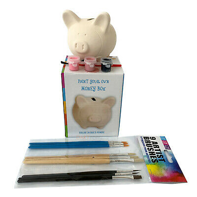 £6.99 • Buy Kids Activity Art Craft Set Fun Play Paint Your Own Pig Bank Money Box CLEARANCE