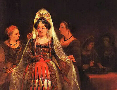 $ CDN123.54 • Buy Oil Painting Aert De Gelder - The Jewish Bride (esther Bedecked) Women Portraits