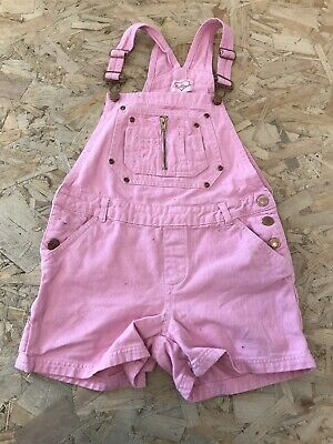 Girls Dungaree Shorts Age 11-12 Years Chillipop Pink D3363 • 8.99£