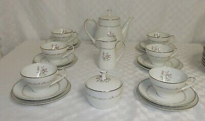 Vintage Noritake Mayfair Tea Set Pink Roses Pattern 6109  • 21.99£