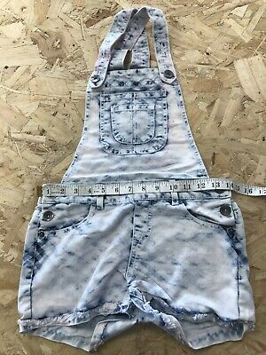 Girls Dungaree Shorts Age 12/13 Years Authentic American Heritage B1793 • 7.99£