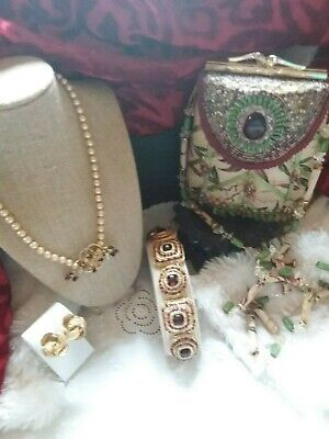 $ CDN257.05 • Buy  Vintage Lot Of Jewelry & Accessories W/ Mary Frances Purse