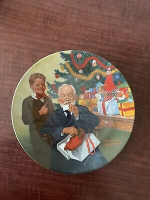 $ CDN15 • Buy Collector Plate - Norman Rockwell - GRANDPOP AND ME 1981 Christmas (S16)