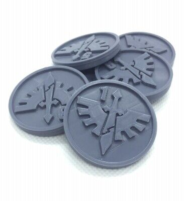 X6 Dark Angels Objective/location Markers For Team Kill 40k 28 Mm Wargame • 4.99£