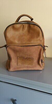 Tan Leather Style Backpack/rucksack/bag, Accessorize • 8£
