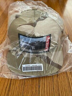 $ CDN99.84 • Buy Supreme Tank 5-panel Desert Camo Ss20 2020 Cap Hat Red White Black Box Logo Cdg