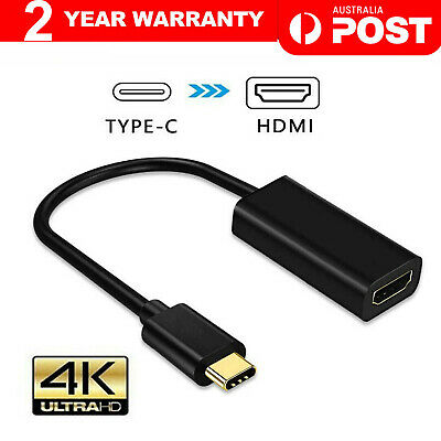 AU9.30 • Buy 4K Type C USB-C To HDMI Adapter USB C 3.1 Cable 30Hz For MacBook ChromeBook