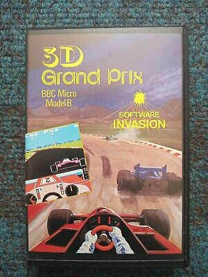 3D Grand Prix Cassette Tape By Software Invasion For The BBC Micro Computer • 3£