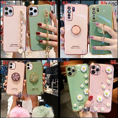 AU17.24 • Buy Bling Soft Phone Cases With Tempered Film For IPhone 7 8 + 11 Pro Max XS Samsung
