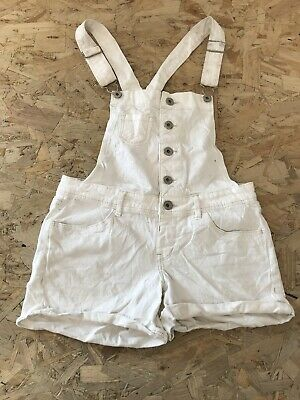 Girls Dungaree Shorts Age 12-13 Years Levi Levis Levi's White D3419 • 7.99£