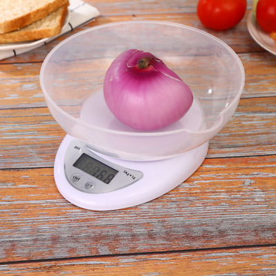 5KG/1g Digital Bowl Scale LCD Electronic Kitchen Scales Cooking Food Measuring • 6.99£
