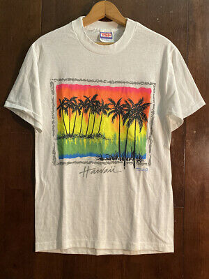 $ CDN46.14 • Buy VINTAGE HAWAII T SHIRT MENS SIZE MEDIUM SINGLE STITCH HIBISCUS 80s 90s