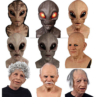 $ CDN28.99 • Buy Realistic  Bald Old Man Alien Mask Scary Party Decoration Halloween Props