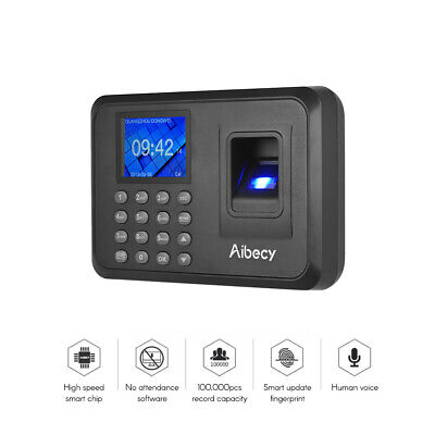 2.4  Biometric Time Recorder Fingerprint Password Attendance Clocking In K5A4 • 19.98£