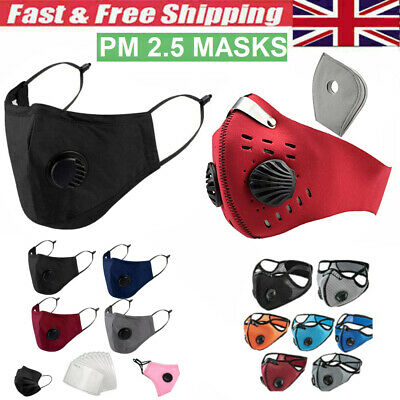 Choose Face Mask Cotton 4 Layer Masks PM 2.5 Filter Mouth Nose Dust Protection  • 3.29£