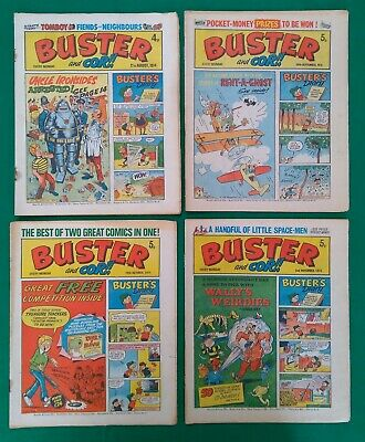 Buster And COR!! Comic Job Lot Of 16 Issues 1974-75 Not Complete • 5£