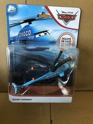 DISNEY CARS DIECAST- Rotor Turbosky - Dinoco  Helicopter -Deluxe - Combined Post • 16.99£