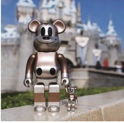 $449 • Buy Medicom Undefeated Mickey Mouse Exhibit NYC BEARBRICK 400% 100% UNDFTD Fragment
